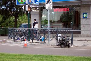El Ayuntamiento de Don Benito instala vallas protectoras en diferentes calles y plazas de la ciudad