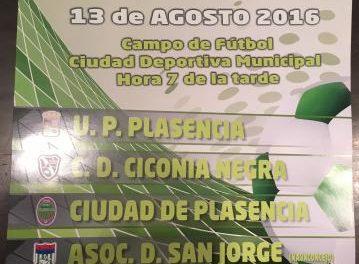 La IV Copa Concejalía de Deportes de Plasencia será el próximo día 13 en la Ciudad Deportiva de la localidad