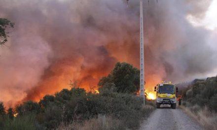 El incendio de Serradilla del Llano cerca de Las Hurdes ha sido controlado tras calcinar decenas de hectáreas