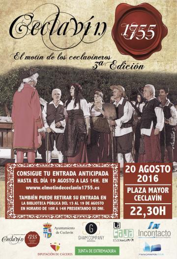 """La representación de la obra """"El motín de los ceclavineros"""" tendrá lugar este sábado en Ceclavín"""