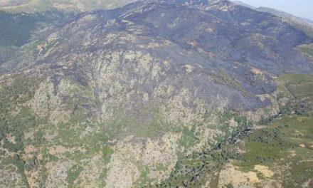 Los medios aéreos estabilizan de nuevo el incendio de la Garganta de los Infiernos en el Valle del Jerte