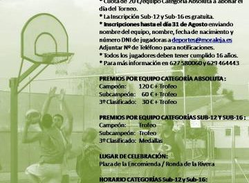 El Complejo Deportivo de Moraleja acoge hoy la XVIII edición del Torneo 3×3 de Baloncesto