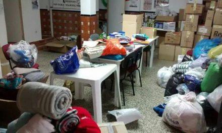 El sindicato CNT instala puntos de recogidas de ayudas en Plasencia para refugiados sirios