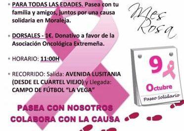 Ceclavín y Valverde del Fresno acogerán este fin de semana dos galas solidarias del Mes Rosa de Moraleja