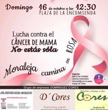Las calles de Moraleja acogerán este domingo la Marcha Rosa contra el cáncer de mama