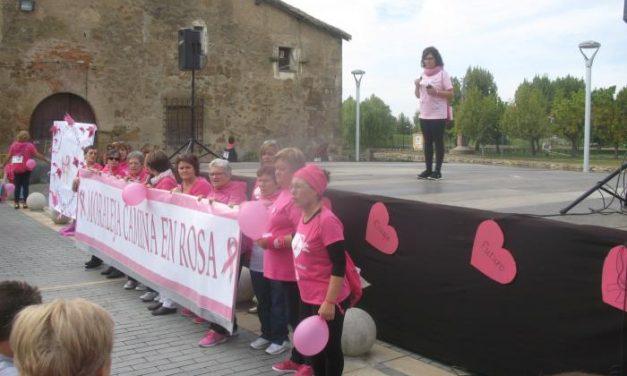 Alrededor de 1.500 personas participan en la Marcha Rosa contra el cáncer de mama celebrada en Moraleja