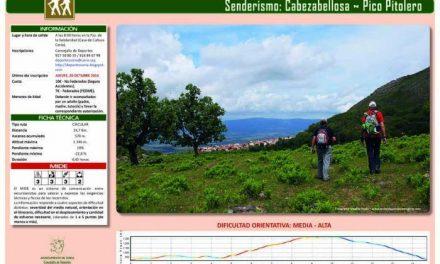 """La ruta senderista """"Cabezabellosa-Pico Pitolero"""" de Coria se celebrará el día 13 de noviembre"""
