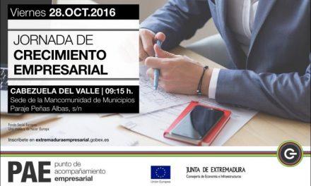 La localidad de Cabezuela del Valle acogerá este viernes las Jornadas de Crecimiento Empresarial