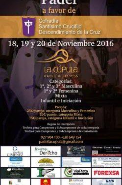 La cofradía del Descendieminto de Plasencia celebrará un torneo de pádel solidario en La Cúpula