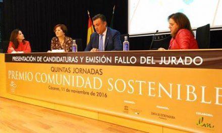 Coria presenta ante el jurado de los Premios Comunidad Sostenible el proyecto del edificio de La Alhóndiga