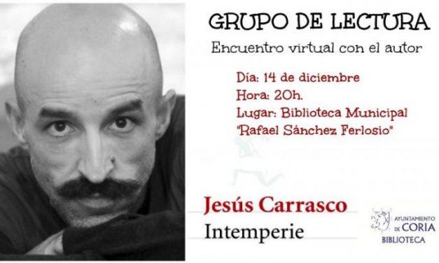 El Club de Lectura de Coria celebrará el 14 de diciembre una videoconferencia con el escritor Jesús Carrasco
