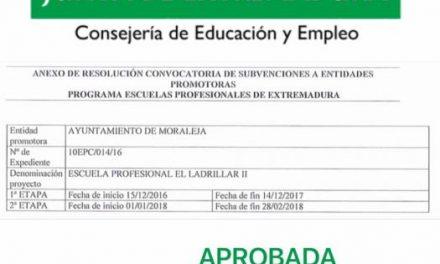 """La Junta aprueba la escuela profesional """"El Ladrillar"""" II en la especialidad de semillas y plantas en Moraleja"""
