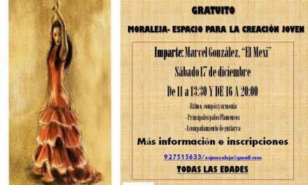 El Espacio para la Creación Joven de Moraleja acogerá un curso de flamenco gratuito este sábado