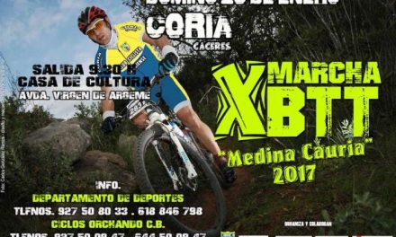 """El departamento de Deportes de Coria abre el plazo de inscripción en la X Marcha BTT """"Medina Cauria"""""""
