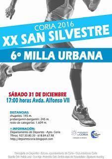 Plasencia y Coria se preparan para acoger la ya consolidada carrera de San Silvestre este sábado