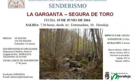 """Ademoxa dará comienzo este fin de semana a su calendario de rutas con la VIII Convivencia """"El Chorrerón"""""""