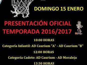 El AD Caurium presentará este domingo a los equipos que participarán en las ligas JUDEX de baloncesto