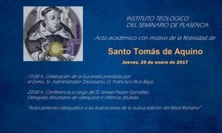 El Seminario Diocesano de Plasencia celebrará este jueves la festividad de Santo Tomás de Aquino