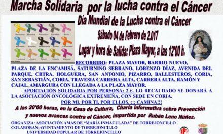 Torrejoncillo acogerá el día 4 de febrero una marcha solidaria para luchar contra el cáncer