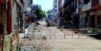Los comerciantes de la calle Francisco Pizarro de Almendralejo se quejan por las obras de remodelación