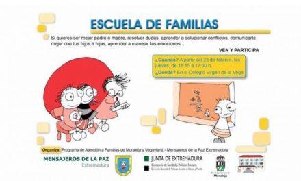 El Cervantes y el Virgen de la Vega de Moraleja acogerán hasta marzo el programa Escuela de Familias