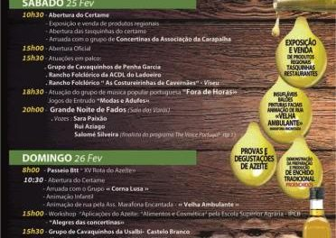 Proença a Velha espera recibir a unas 4.000 personas en el XV Festival del Azeite y el Fumeiro