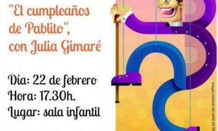 """Coria acogerá esta misma tarde el cuentacuentos infantil con marionetas """"El cumpleaños de Pablito"""""""