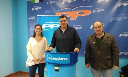 El PP presentará dos mociones para la mejora de las partidas para Coria procedentes de la Diputación