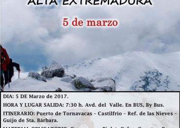 """El Grupo Placentino de Montaña llevará a cabo este domingo la travesía """"Alta Extremadura"""""""
