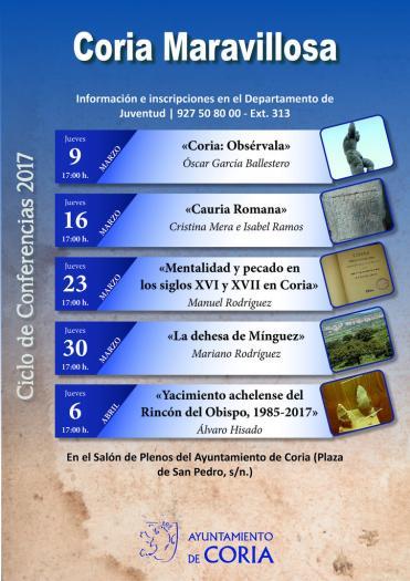 """La nueva edición del taller """"Coria Maravillosa"""" arrancará este jueves con una ponencia sobre turismo"""