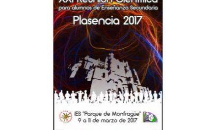 Cerca de 290 alumnos y 53 profesores se darán cita en Plasencia en el marco de la XXI Reunión Científica