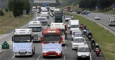 Las asociaciones de transportistas cifran en un 90% el seguimiento de la huelga en Extremadura