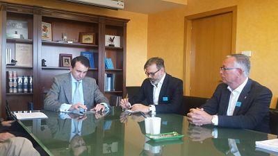 El alcalde de Plasencia se reúne con la CHT para tratar temas relacionados con la depuradora y los vertidos