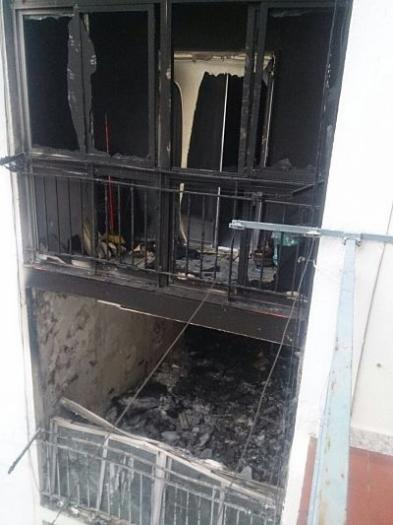 Tres personas resultan heridas tras producirse un incendio en una vivienda de Plasencia