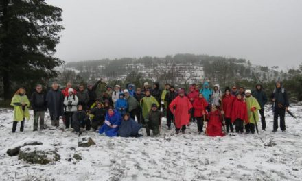 Cerca de 50 personas disfrutan de la nieve en la ruta organizada por el área de Deportes de Coria