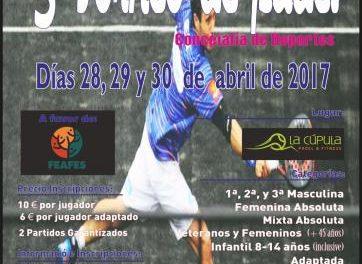 La capital del Jerte acogerá el III Torneo de Pádel los próximos 28, 29 y 30 de abril a favor de FEAFES