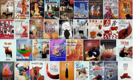 Coria expone en la casa de cultura las obras presentadas al concurso de carteles de San Juan de este año