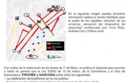 Moraleja acoge durante la jornada de este lunes la celebración del Primero de Mayo