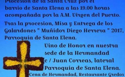 La Cofradía de la Vera Cruz de Plasencia celebrará este sábado la Cruz de Mayo con diferentes actos