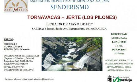 El paraje natural de Los Pilones será el destino de la ruta que celebrará ADEMOXA este domingo