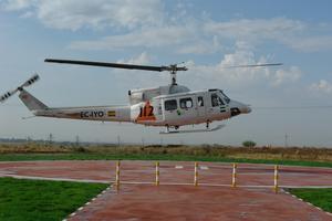 La Consejería de Agricultura inicia las obras para hacer el camino de acceso al helipuerto en Montehermoso
