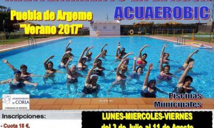 Puebla de Argeme y Rincón del Obispo acogerán cursos de mantenimiento en el agua y aerobic este verano