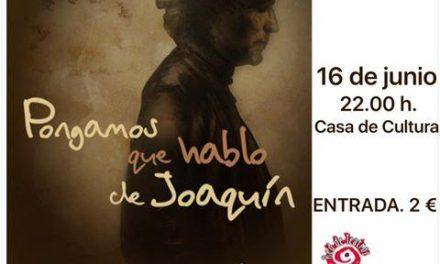 """La casa de cultura de Moraleja acogerá el espectáculo """"Pongamos que hablo de Joaquín Sabina"""""""