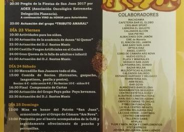La delegación placentina de AOEX pronunciará el pregón de las fiestas del barrio de San Juan