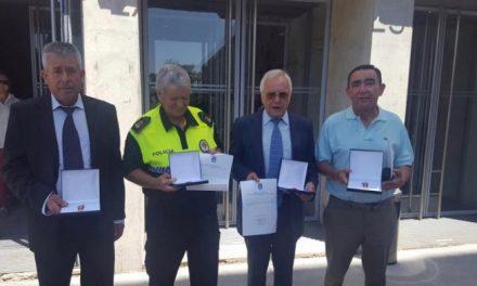 Cinco agentes de Moraleja reciben la Medalla a la Permanencia de la Policía Local de Extremadura