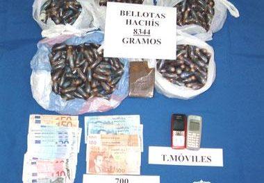 La policía desmantela en la ciudad de Badajoz una red que introducía hachís en Extremadura