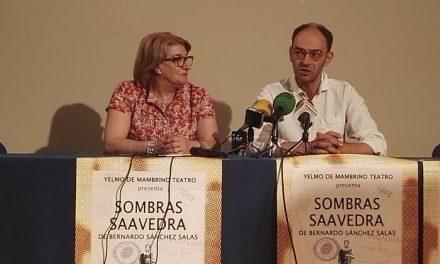 """Rafael Navarro estrena en primicia la adaptación """"Sombras Saavedra"""" en el teatro Alkázar de Plasencia"""
