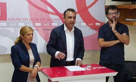 """El PSOE  considera que """"la mala gestión"""" del PP tiene a Coria en una situación de """"bloqueo urbanístico"""""""