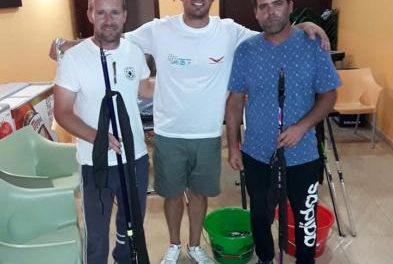 Los hermanos Martín García ganan el II Campeonato de Pesca Nocturno por parejas de Moraleja