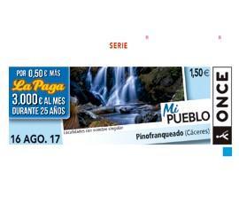 El municipio hurdano de Pinofranqueado protagoniza este miércoles 5,5 millones de cupones de la ONCE
